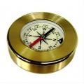 Bússola de bolso Aço Inox Dourada